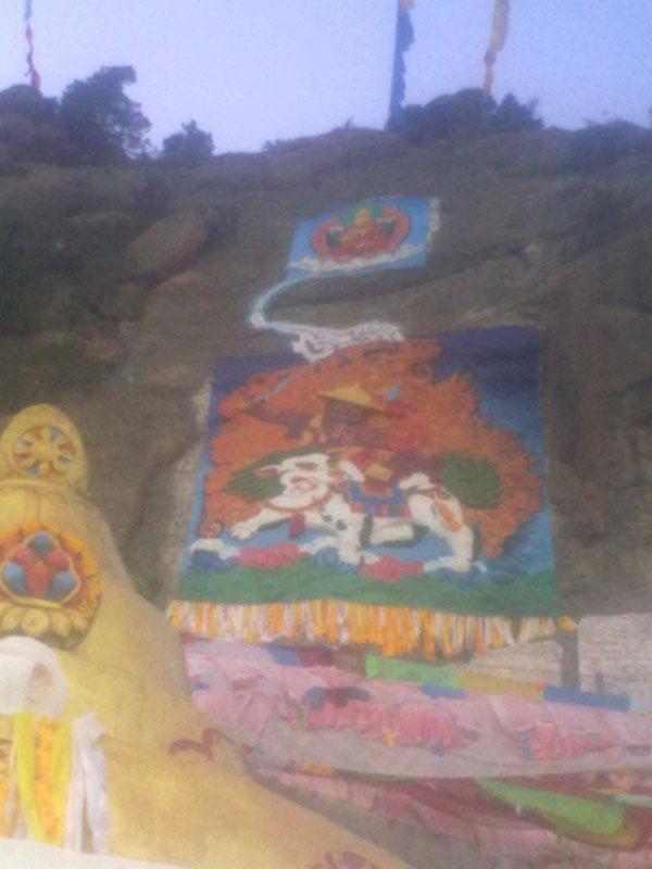 การเขียนภาพวาดที่ก้อนหิน เมืองคาม