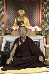พระเกเช ทูทริม เทนซิน รินโปเช แห่งวัดกาเด็น จังเซ