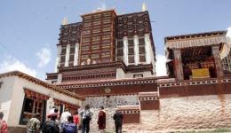 Denma Gonsa Monastery main prayer hall