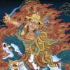 Dorje Shugden black thangka
