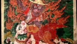 Wrathful Dorje Shugden Thangka